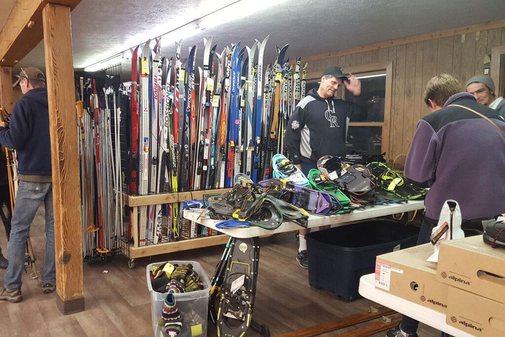 ski swap at Snow Mountain Ranch Nordic Center