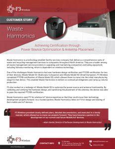 Waste Harmonics story