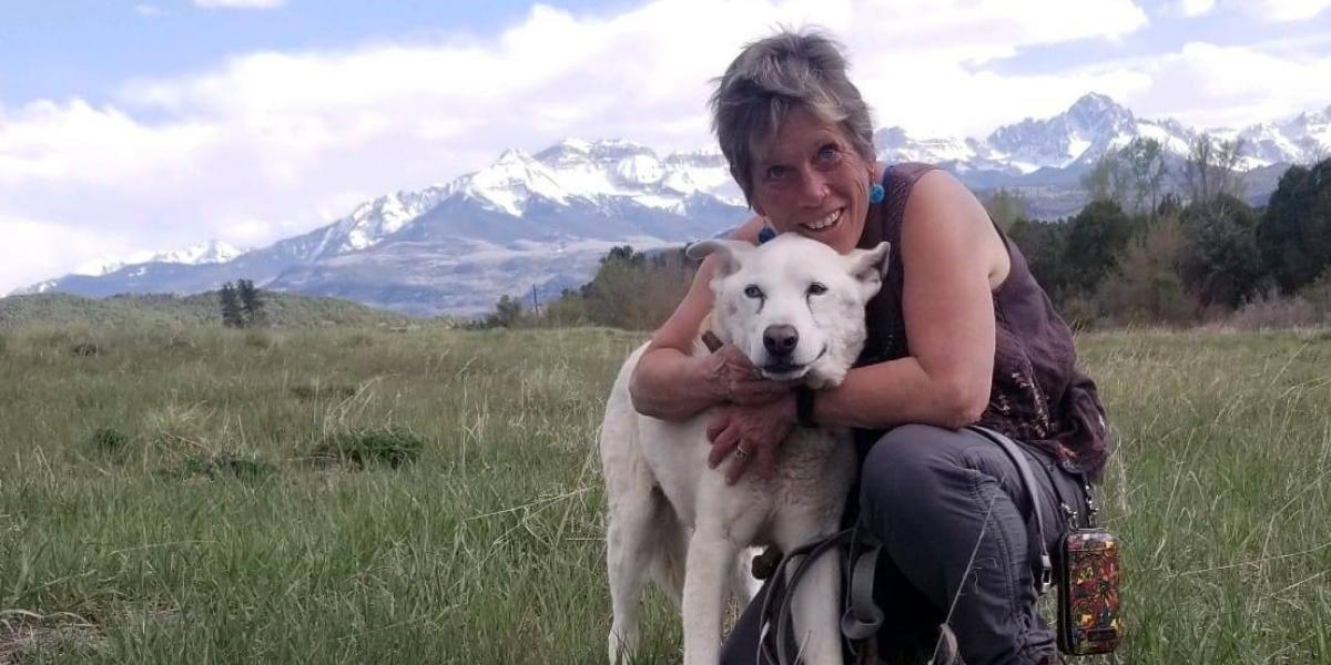 Katrina with her dog Humphrey