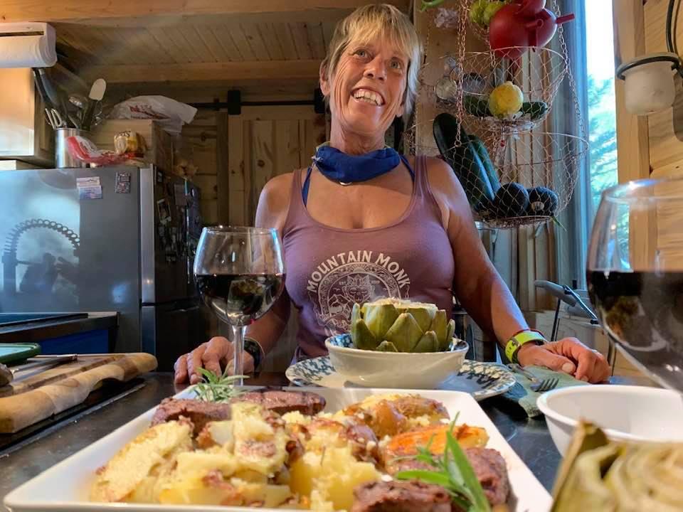 Katrina in her kitchen