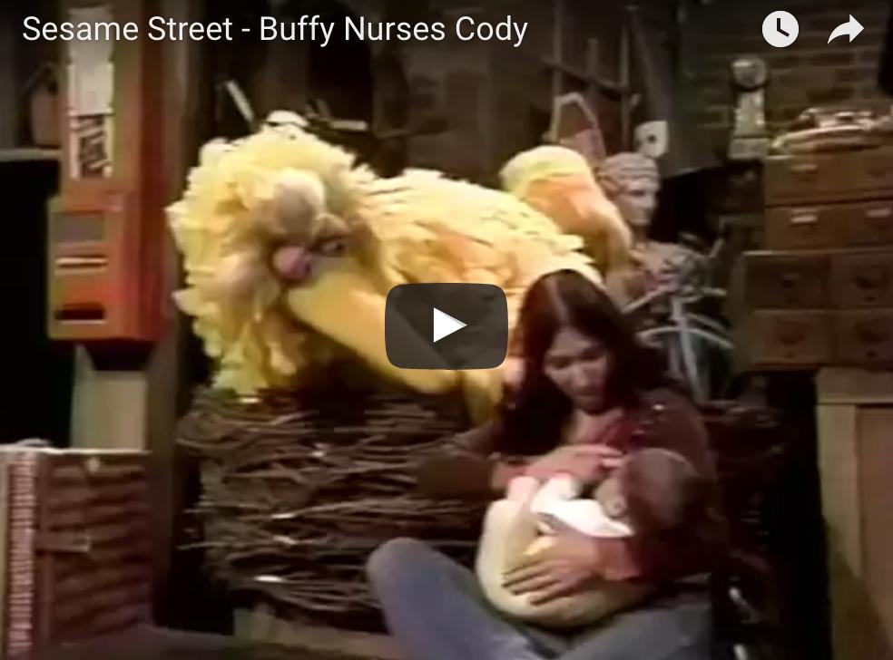 Breastfeeding on Sesame Street
