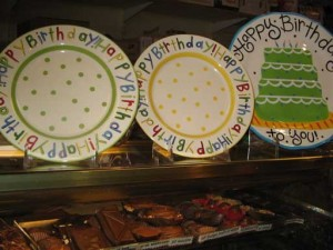 Commemorate the occasion with these plates.