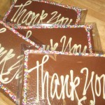 What better way to say 'Thank you' than with chocolate!  Much sweeter than a paper card!