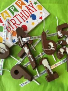 Celebrate with Chocolate birthday candles
