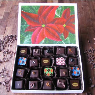 Bellafina Chocolates Young Artist Poinsettia 20pc box