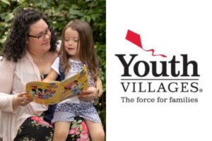 Youth Villages logo and family