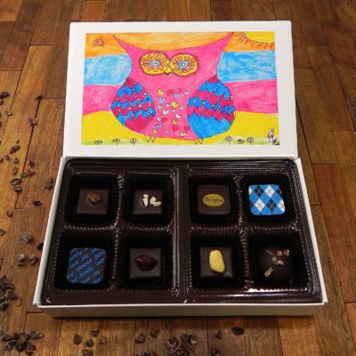 Bellafina Chocolates StDom Owl 8pc
