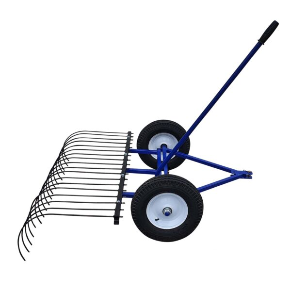 The Mini Beast ride on mower landscape stick rake