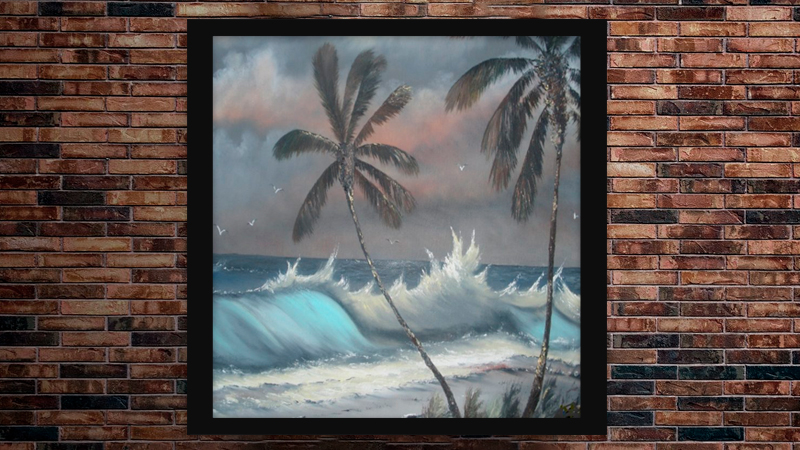 """""""Stormy Palms"""" by A J Brown"""