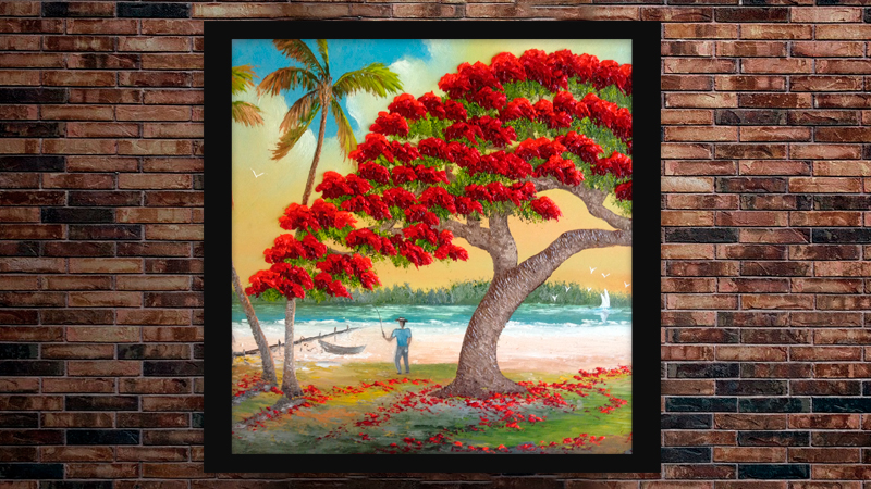 """""""Docked at Poinciana Palms"""" by A J Brown"""