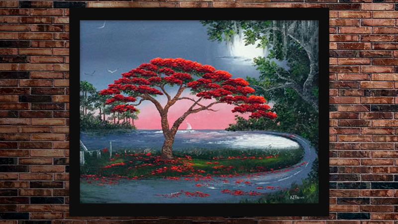 """""""Poinciana Curve"""" by A J Brown"""
