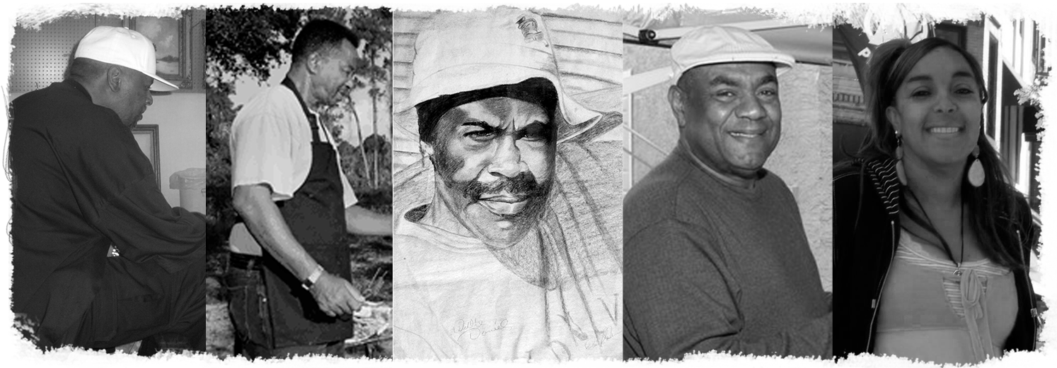 James Gibson, Al Black, Johnny and Willie Daniels are  internationally recognized as the Florida Highwaymen Painters
