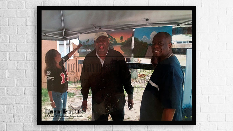 Florida Highwaymen artists Al Black, AJ Brown, and Carnell Smith are members of the City of Fort Pierce Highwaymen Heritage Trail
