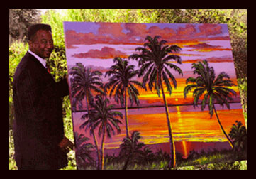 Highwaymen painter James Gibson is commissioned by Governor Charlie Crist, in February 2008.