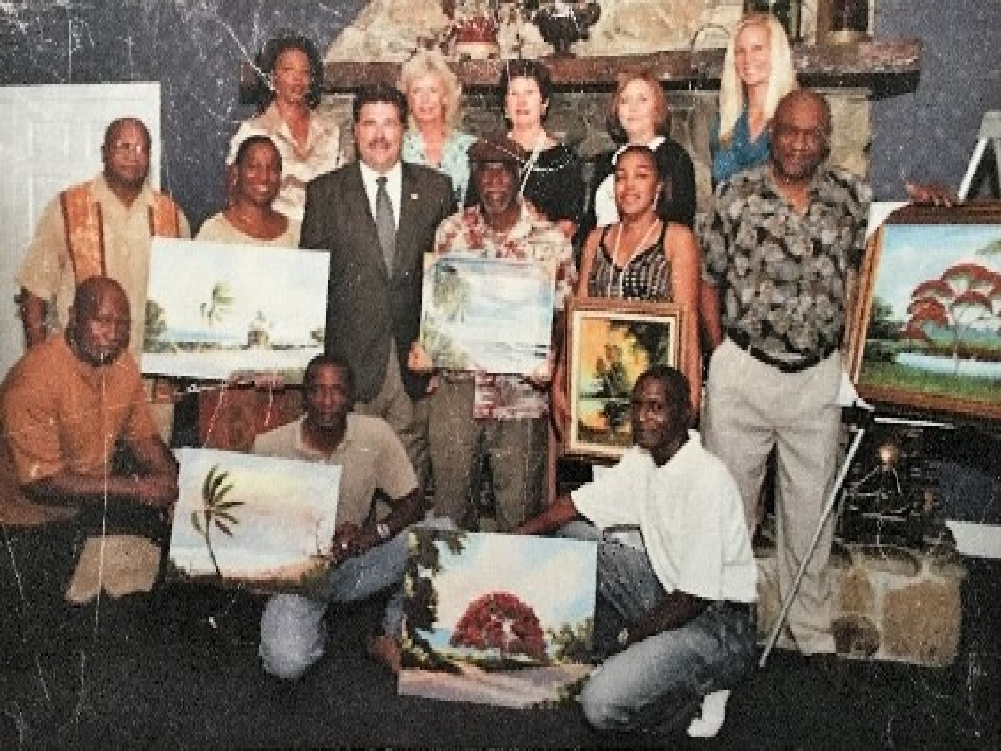 Florida Highwaymen Painters, Willie Reagan and members seen hear are a part of the Highwaymen Trail
