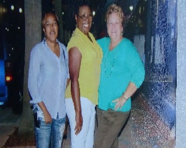 Florida Highwaymen Historic Artists AJ Brown, Doretha Hair and AE Backus Former Museum Director, Kathleen Fredrick