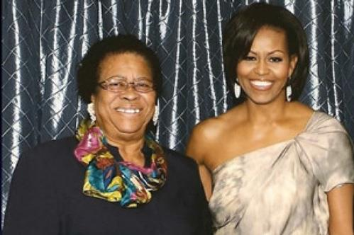 In 2011, Mary Carroll meets First Lady Michelle ObamaMichelle