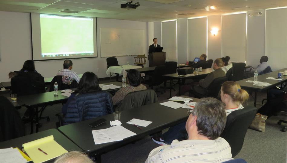 Dr. Feiler lecturing to attendees in our River Edge location