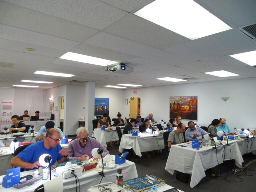 Attendees during the hands-on portion of Dr. Papadakis's course