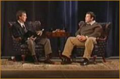 Dean interviewing Donald Miller