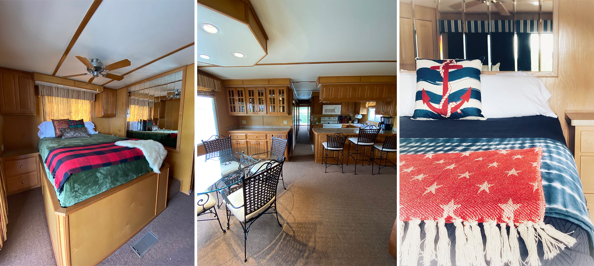 Interiors of houseboats