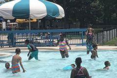 Kids love splashing at the water park!