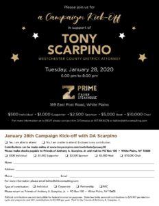 Tony Scarpino Campaign Kickoff @ Prime Italian Steakhouse