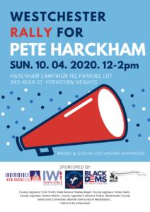 Westchester Rally for Pete Harckham @ Harckham Campaign HQ Parking Lot