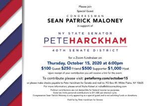 Pete Harckham Fundraiser w/ Sean Patrick Maloney @ Zoom