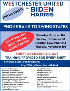 Biden+Harris Swing State Phone Banks