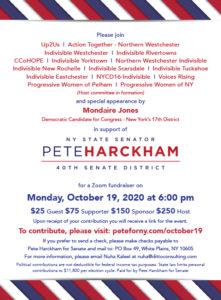 Pete Harckham Fundraiser w/ Mondaire Jones & Westchester Activists