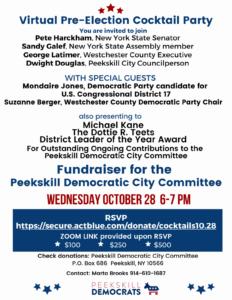 Peekskill Dems Pre-Election Fundraiser