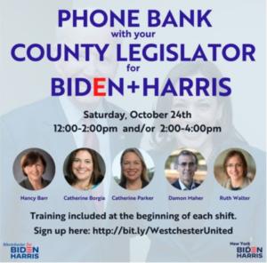 Biden+Harris Phone Bank w/ County Legislators (Shift 1)