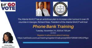 Atlanta NAACP Phonebank Training