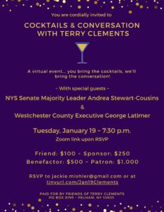 Terry Clements Fundraiser w/ Andrea Stewart-Cousins
