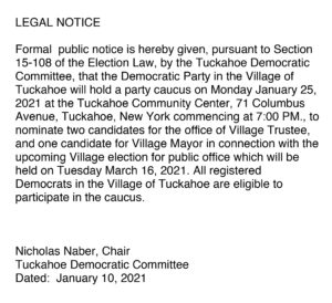 Tuckahoe Democratic Committee @ Tuckahoe Community Center