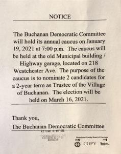 Buchanan Democratic Caucus @ Old Municipal Bldg./Highway Garage