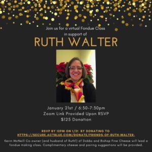 Ruth Walter Fondue Fundraiser