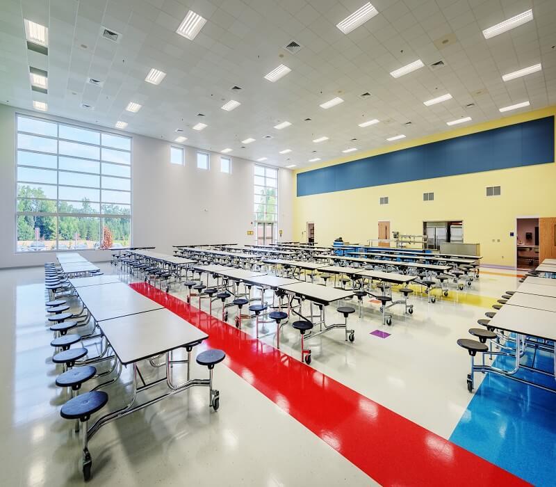 Abbotts-Creek-Elementary-School-Cafeteria