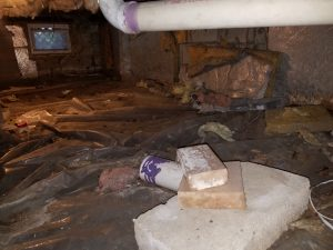 Crawl Space before and after