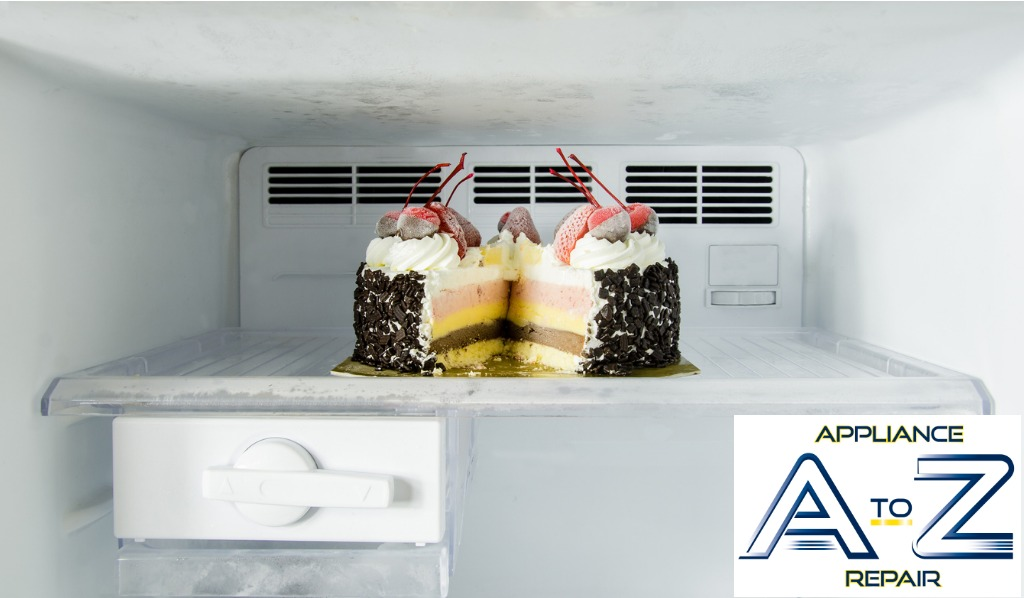 ice-cream-cake-in-a-refrigerator-picture-id501679624