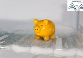 yellow-piggy-bank-standing-inside-a-defrosting-refrigerator-picture-id470681918