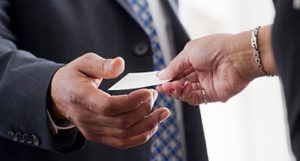 Leaving the Mortgage Industry Exchanging Cards