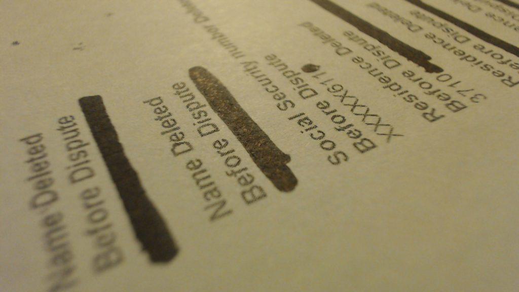 Credit Repair Letter Delete Personal Information