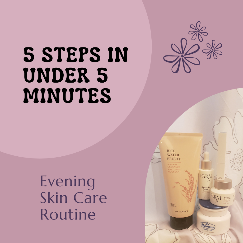 5 Steps in Under 5 Minutes Evening Skin Care Routine