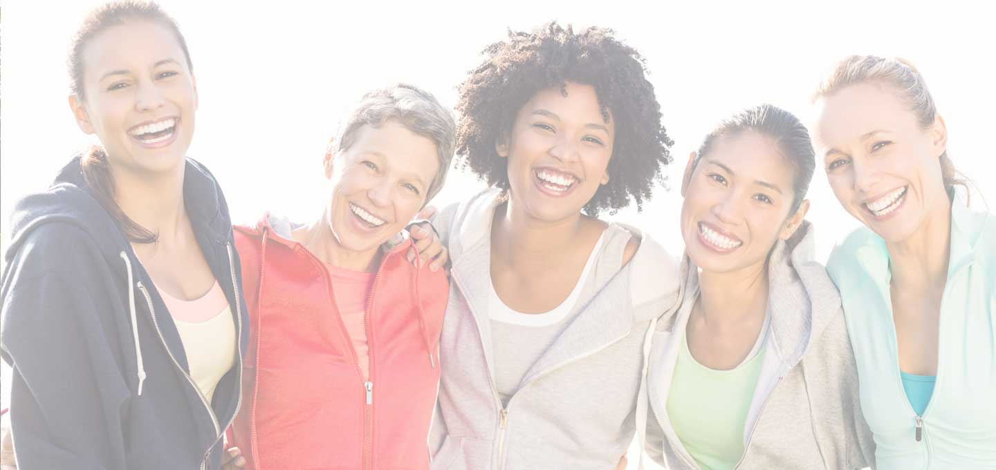 group of 5 smiling women