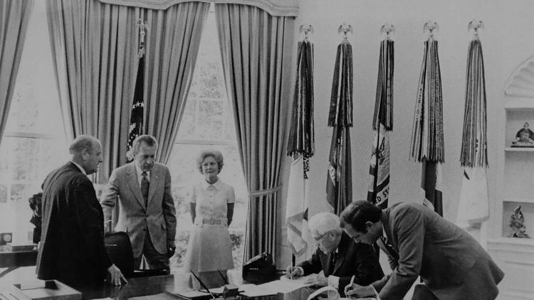 Butterfield with former President Nixon