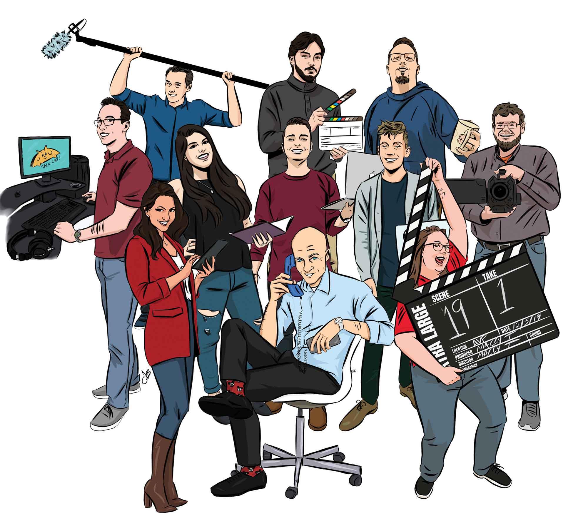 Advantage Team Caricature