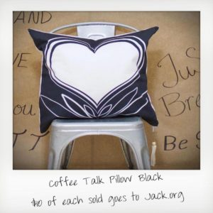 Coffee Talk Pillow Black
