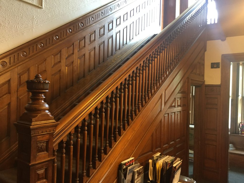 Beautiful 19th century staircase in the James Hooper House